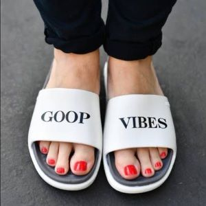 Brand new GOOP x NATIVE lounge sandals